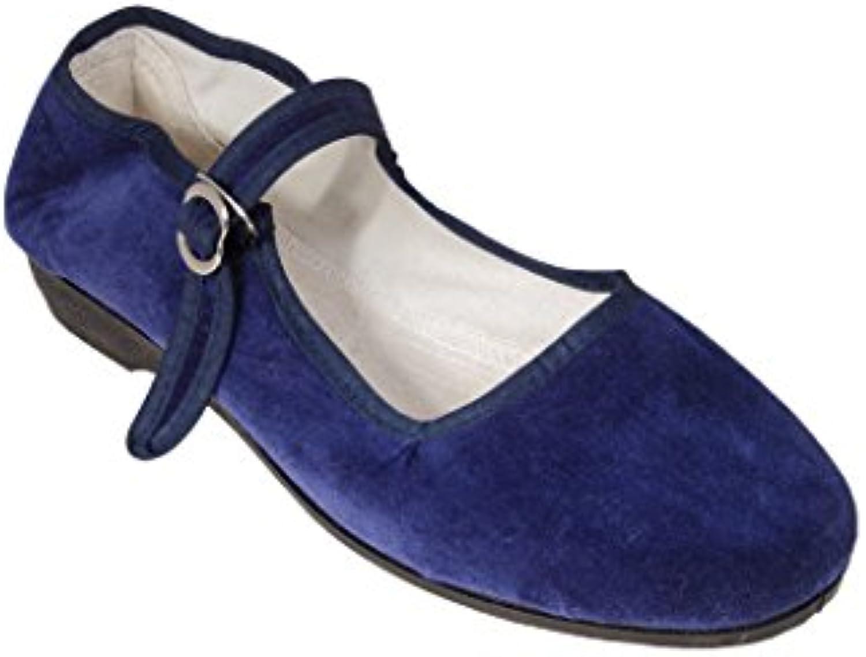 Sonnenscheinschuhe® - Bailarinas de Terciopelo para mujer azul azul 42