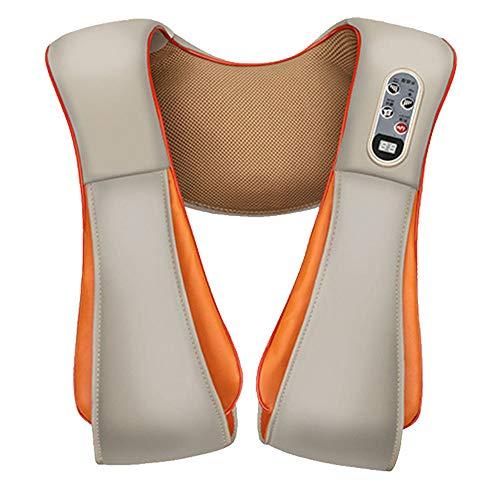 JUZEN Shiatsu Schulter- und Nackenmassagegerät, elektrische Massage beheizter Gürtel, Muskelschmerzen im Auto Büro und Zuhause, orange