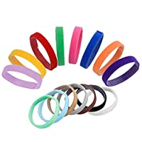 Whaline 15 Colours Whelping Puppies ID Pet Dog Cat Collars Soft Adjustable Puppy Bands Collars