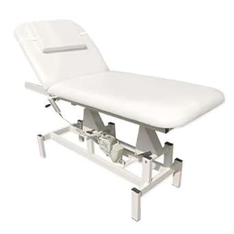 11937 Elektrische Therapieliege Ruheraumliege Massageliege Behandlungsliege in weiß