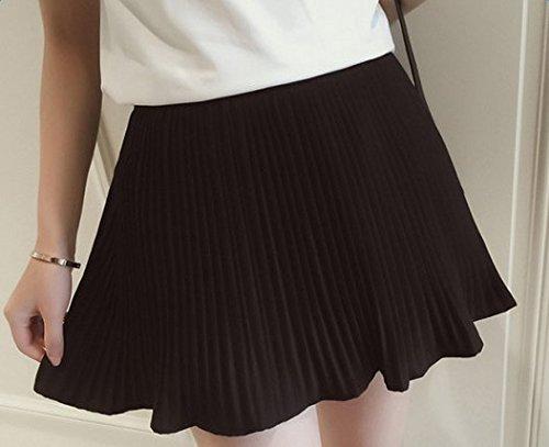 Qingsun Women's Casual A Line Skirt High Waist Pleated Flared Umbrella Mini  Skirt(Black): Amazon.co.uk: Clothing
