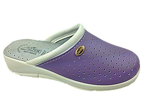 Foster Schuhe Max Relax Clog für Damen Violett