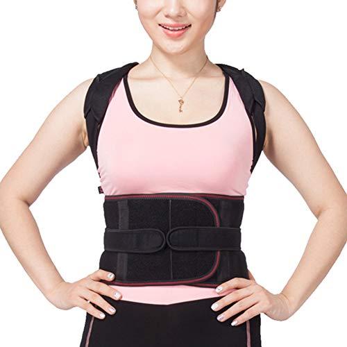 MISSMAO_FASHION2019 Unisex Geradehalter zur Haltungskorrektur für Eine Gesunde Haltung,Professioneller Geradehalter und Rückenbandage mit Maximalem Schwarz XL