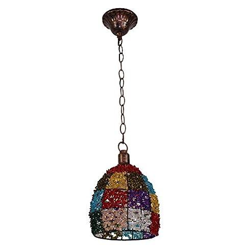 Lampes, Lustres, Asie du Sud-Est, Asie du Sud-Est, Restaurant, bar, couloir, perles de couleur, petit lustre, style européen Retro Bedroom Light