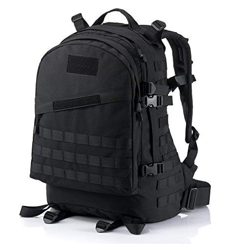 YAKEDA® Alpinisme sac hommes et sac à bandoulière sac à dos 3D les paquets de l'attaque tactique des femmes Escalade à dos de voyage Sacs à dos Camouflage sac imperméable extérieure randonnée à dos 45L - A88010 (Couleur10)