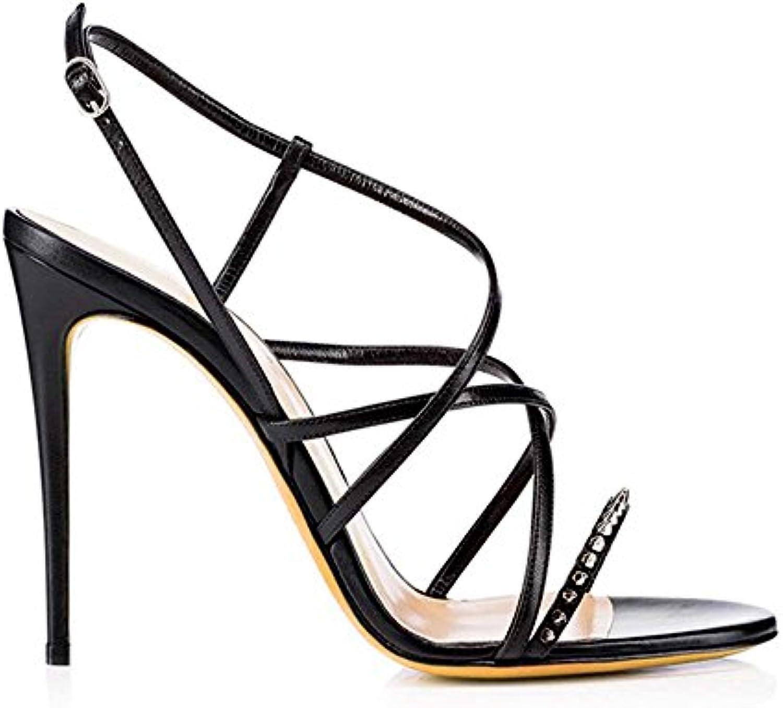 les talons haut haut haut la cheville gongff sandales rivet chaussures ceintures décoratives sandales sandales noires.b07d7gd6kt parent 12f5d2