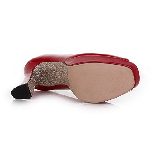 balamasa pour femme à enfiler Fashion brevet en cuir Sandales red