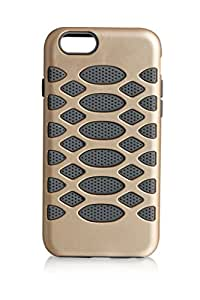 iPhone 6 cover GOLD PC+GREY SILICONE CASE
