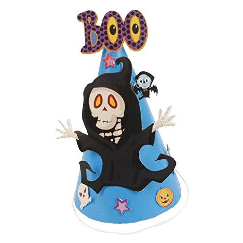 üßer Kinder Papierhut Kegel Hut Halloween Kostüm Accessoires, aus Papier, Elastisch und Einstellbar ()