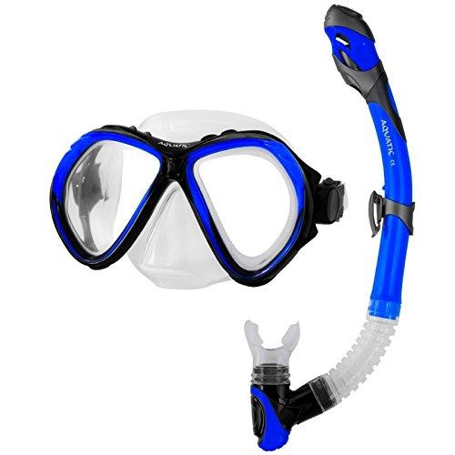 Tauchset, Schnorchelset, Schnorchel+Maske, für Erwachsene, Jugendliche ZONA + ELBA Aquatic