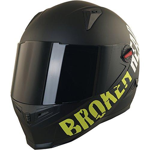 Broken Head BeProud Helm | Motorradhelm Set inkl. Schwarzem Visier - Integralhelm - Karthelm - Nakedbike schwarz-matt S (55-56 cm) - 2