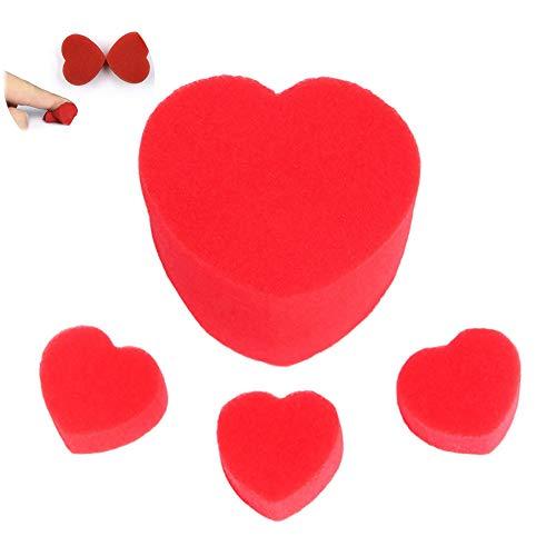 Beito 1 unids Pareja Amor corazón Esponja mágica Accesorios para Fiesta y Citas Creativo y Juguete mágico