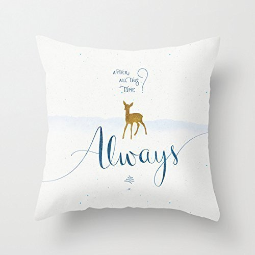 Home Style diylancas Cotton Linen Throw Pillow Cover Cushion Case Harry Potter Always - 45 X 45 cm Square Design