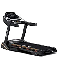 Sparnod Fitness STH-3400 (4 HP Peak) Automatic Treadmill (Free Installation Service) - Foldable Motorized Running Indoor Treadmill for Home Use