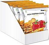 Supplify Protein Chips - Eiweiß Fitness Snack Mix Box, Whey Proteinpulver und Protein Riegel, ideal zum Abnehmen oder als Muskelaufbau Booster- 6x 50g, Paprika (vegan)