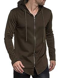 Celebry tees - Gilet kaki homme oversize zippé à capuche tendance