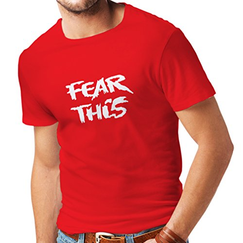 N4037 T-shirt da uomo Fear This gift Rosso Bianco