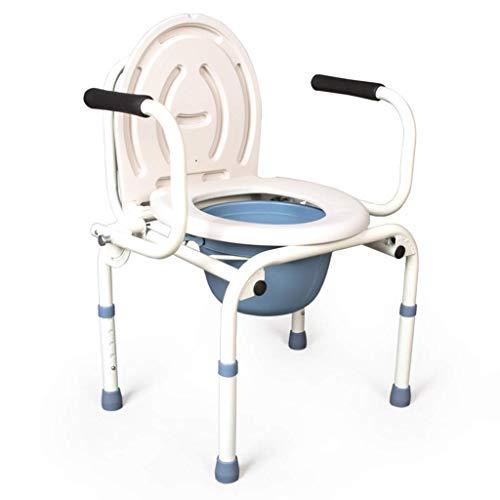 WCWC Kommode Stuhl Rutschfeste Sicherheit Toilettenschüssel tragbare gefaltete Bad Stuhl ältere behinderte Toilettenstuhl Schwangere Frau Edelstahl Kommode Stuhl
