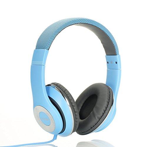 Ausdom F01 Auricular Ligero Multimedia Ajustable Air-Fi HiFi HD Estéreo Universal Port 3.5mm Plegable con cable y con Micrófono Incorporado 14 horas de reproducción, Compatible para iPhone, Samsung, HTC Smarphone,