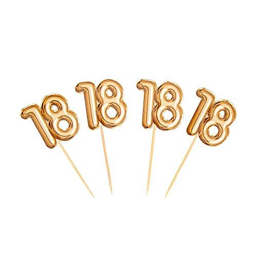 Neviti 773680Glitz y Glamour edad 18palillos para aperitivos, color dorado