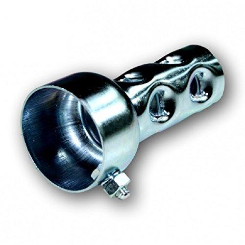 dB-Killer ca. 48mm x 100mm Universal dB-Eater für 2 Zoll Krümmer Auspuff (2x4 Zoll) -