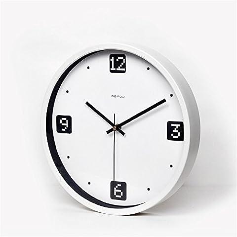 Einfache digitale 12 Zoll Metallwand Uhr Wanduhr (ohne