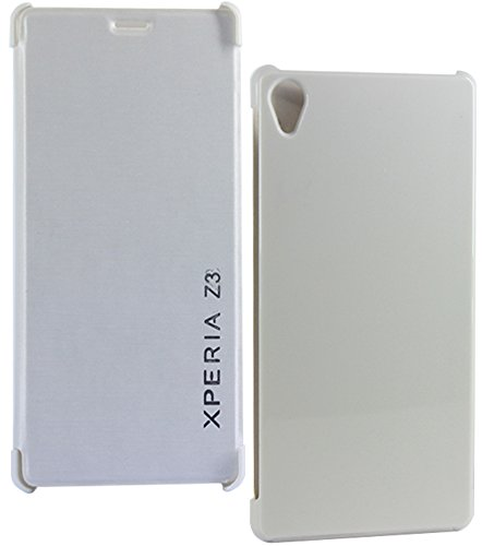 DMG Flip Book Diary Cover Case For SONY Xperia Z3 (White)  available at amazon for Rs.164