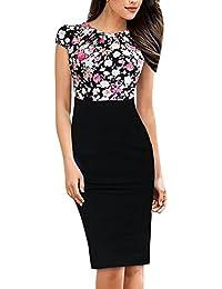 buy online 33214 af7a7 bianco e nero - Tubino e Peplum / Vestiti / Donna ... - Amazon.it