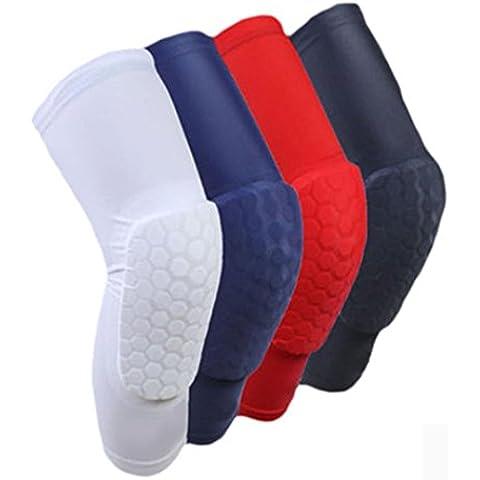 F&HY&L Fitness Abbigliamento protettivo calcio di estesa Bull ginocchiera cellulare Protezioni basket