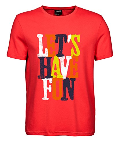 makato Herren T-Shirt Luxury Tee Lets Have Fun Coral