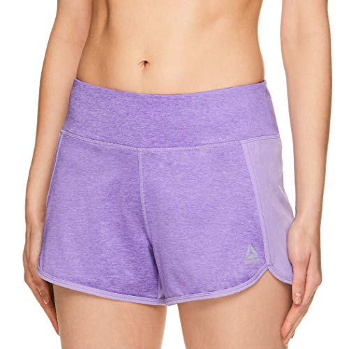 Reebok Women's Running Shorts, Relaxed Fit and Mid-Rise Waist Training Shorts -