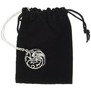 Noble Collection Juego de Tronos de Collar y Colgante Targaryen (Sterling Silver) 3