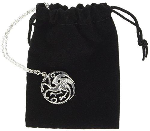 Noble Collection Juego de Tronos de collar y colgante Targaryen (sterling silver)