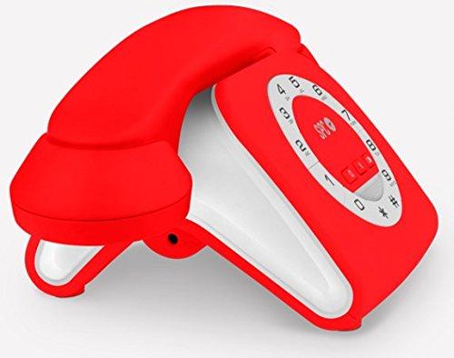 SPC Retro Elegance Mini - Teléfono Fijo (Teléfono de diseño, Volumen de Timbre Regulable, rellamada), Rojo
