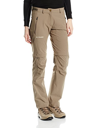 VAUDE, Damen Hose Farley Stretch Zip Off T-Zip Pants, Braun (Coconut), Gr. 42 short