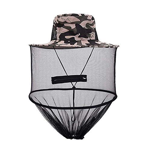 ghfcffdghrdshdfh Mosquito Cap Midge Fly Bug Insect Bee Hat with Net Mesh Head Face Protector Fishing Hat for Outdoor Camping Hiking Hunting - Fly Away Halter