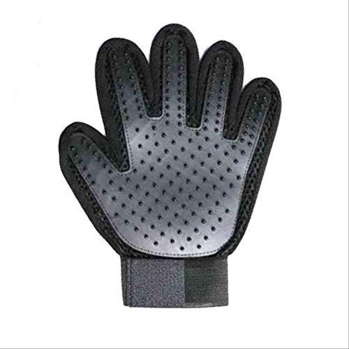 SHUIJZH Pet Hair Comb Cat Handschuhe Wollhandschuhe Pet Pinsel Katze Haarentfernung Pet Beauty Handschuhe S Black Left Hand -