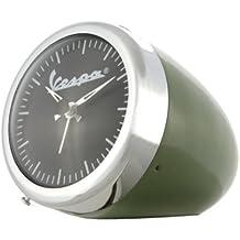 Reloj nostálgico Vespa con diseño original de faro Vespa, súper idea para regalo, cromado / blanco verde