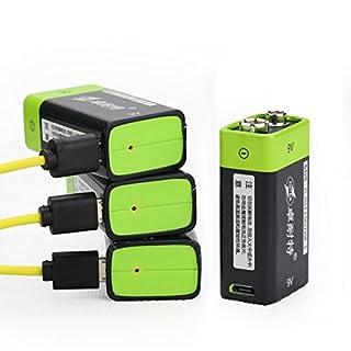 ADAALEN 9V 400mAh USB aufladbare 9V Lipo Batterie S19 ZNTER