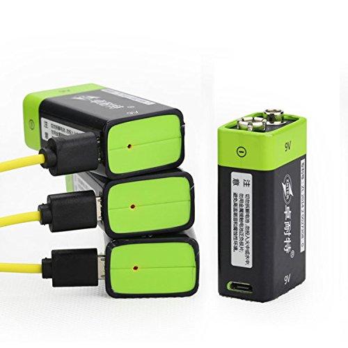 Preisvergleich Produktbild easyshop 9V 400mAh USB aufladbare 9V Lipo Batterie S19 ZNTER