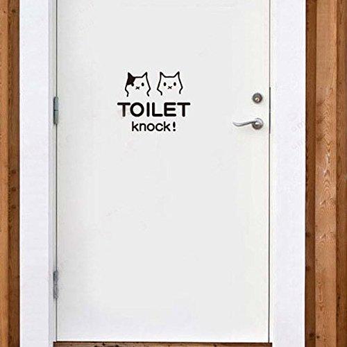 Inovey Süße Katze WC Badezimmer wasserdichte Wand Poster Sticker-Weiß