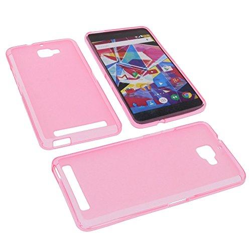 foto-kontor Tasche für Archos Diamond Plus Gummi TPU Schutz Hülle Handytasche pink