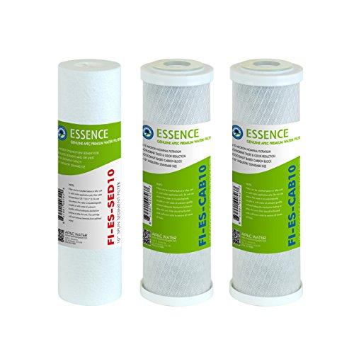 apec filter-set-es High Capacity Ersatz Vorfilter SET für Essence Serie Umkehrosmose Wasser Filter System Stage 1, 2& 3 (Umkehrosmose-system Serie)
