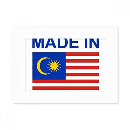 DIYthinker Hergestellt im Malaysia Land Liebe Desktop-Foto-Rahmen-Weiß-Bild-Kunst-Malerei Passt 10.2 x 15.2cm (4 x 6 Zoll) Bild Mehrfarbig