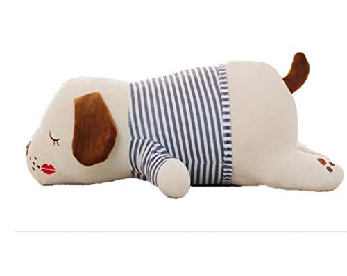 Good Night Coussin en forme de chien dormant Poupées en peluche Jouets pour les enfants ou les adultes, 19''