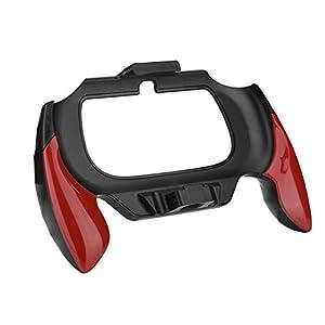 ABS Gamepad Griffhalterung mit komfortablem Griff, langlebig, rutschfest, stoßfest und schweißfest, etc, passend für Sony PSV PS Vita 2000 (rot).(rot)