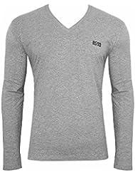 """Hugo Boss V Neck Longsleeve Shirt """"LS-Shirt VN"""" (XL, gris)"""