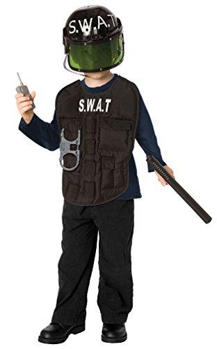 Swat Kostüme Jungen (,Karneval Klamotten' Kostüm SWAT Polizist Kostüm Junge Karneval Polizei Jungenkostüm Größe)