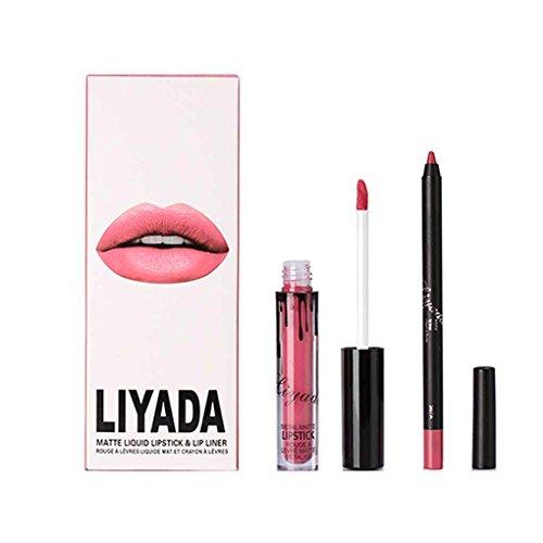 LUFA LIYADA 12 couleurs mat imperméable à l'eau dure longtemps antiadhésif Coupe Lip Gloss à lèvres liquide rouge à lèvres Set de coloration Tint