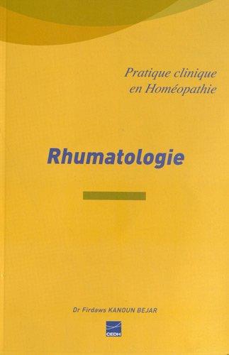 Rhumatologie : La rhumatologie facile par homéopathie par Firdaws Kanoun Bejar